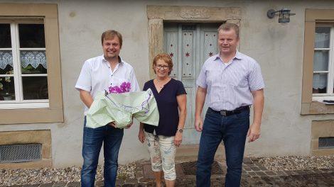 Bürgermeister Volker Weber, Bernadette Dewes, Gregor Hinsberger