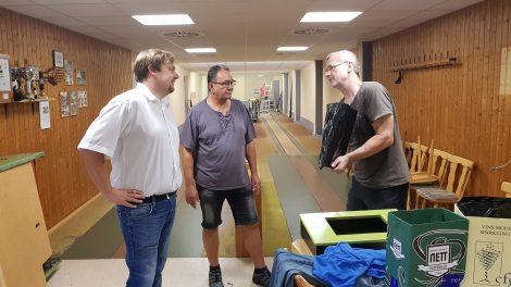 Sanierung der Kegelbahn in der Sporthalle Marpingen