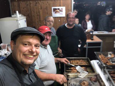 Stand der St. Barbara Bruderschaft beim Urexweiler Dorffest 2018