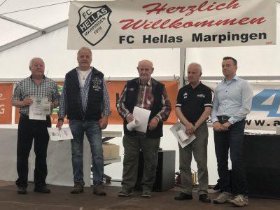 Ehrungen beim Festkommers 100 Jahre FC Hellas Marpingen 1919 am 15.06.2019